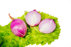 Sweet onions are sold Royalty Free Stock Image