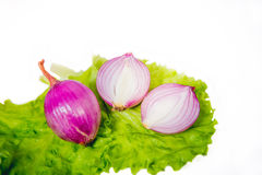 Sweet onions are sold Stock Images