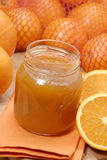 Sweet and orange. Orange preserve,orange conserve and orange,fruit preserve,orange jam Royalty Free Stock Image