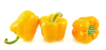 Sweet orange bell pepper isolated Royalty Free Stock Image