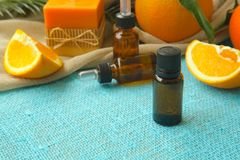 Free Sweet Orange Essential Oil Royalty Free Stock Photography - 58630057