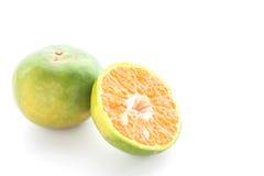 Sweet orange fruit on white background. Royalty Free Stock Image