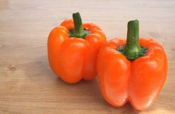 Sweet orange peppers Stock Images