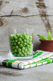 Sweet organic green peas Royalty Free Stock Image