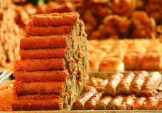 Sweet oriental pastry and cakes Stock Images
