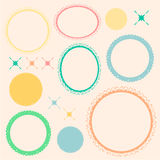 Sweet ornamental pastel border Royalty Free Stock Image