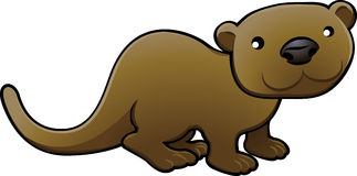 Sweet Otter Vector Illustratio Royalty Free Stock Photography