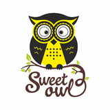 Sweet owl Royalty Free Stock Images