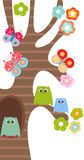 Sweet owls stock illustration