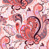 Sweet Paisley. Swirled Feather in Sweet Paisley Pattern Royalty Free Stock Photography