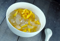 A Sweet palmyra fruit and jackfruit bowl. Palmyra fruit and jackfruit bowl Royalty Free Stock Photo