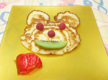 Sweet pancake animal face Stock Image