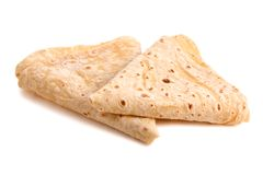 Sweet pancakes. Close up on white Stock Image
