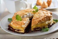 Sweet pancakes with meringue Stock Photos