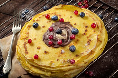 Sweet pancakes time Royalty Free Stock Image