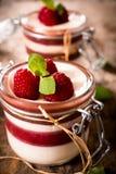 Sweet panna cotta Royalty Free Stock Photos