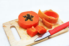 Isolated papaya Stock Images