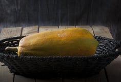 Sweet Papaya. Fresh Sweet Papaya over rustic wooden table Royalty Free Stock Photography