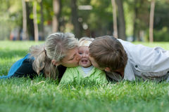 Sweet parenting Royalty Free Stock Images
