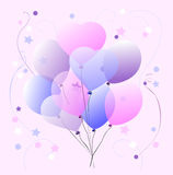 Sweet Pastel Balloons Royalty Free Stock Photos