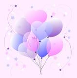 Sweet Pastel Balloons Royalty Free Stock Photos