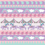 Sweet pastel pattern Stock Photography