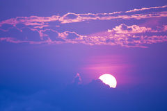 Sweet pastel sunset or sunrise, soft focus. Royalty Free Stock Photos