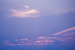 Sweet Pastel Sunset Or Sunrise, Soft Focus. Royalty Free Stock Images