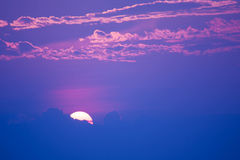 Sweet pastel sunset or sunrise, soft focus. Stock Images