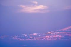 Sweet Pastel Sunset Or Sunrise, Soft Focus. Stock Photography