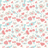 Sweet Pastel Valentine Pattern Royalty Free Stock Images