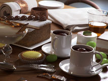 Sweet pastries and desserts. A table dressed for a sweet feast (3D render Stock Photos