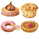 Sweet pastries, desserts Stock Photos