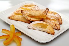 Sweet pastries whit orange Royalty Free Stock Photo