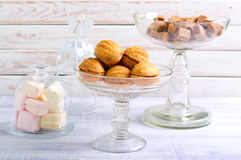 Sweet pastry balls with caramel filling biscuits Stock Photos