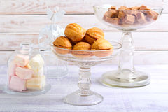 Sweet pastry balls with caramel filling Royalty Free Stock Image
