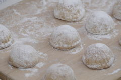 Sweet pastry balls with sugar Royalty Free Stock Photos