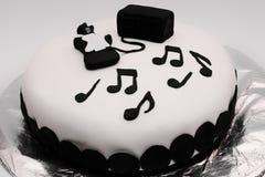 Sweet pastry birthday cake Stock Photo