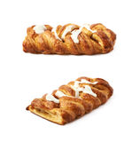 Sweet pastry bun isolated Stock Images