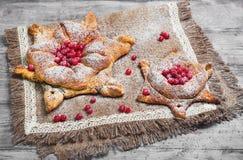 Sweet pastry buns danish Royalty Free Stock Photos