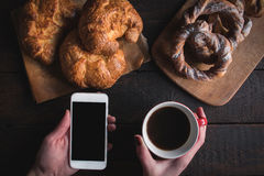Sweet pastry and coffee Royalty Free Stock Photography