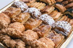 Sweet pastry, puff pastry with powdered sugar, with pine nuts,  with jam made from Siam pumpkin, Royalty Free Stock Images