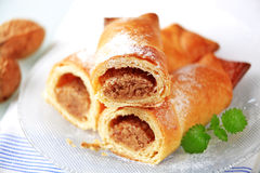 Sweet pastry rolls Royalty Free Stock Images