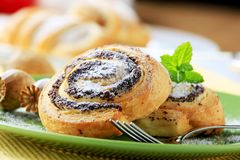 Sweet pastry rolls Stock Photography
