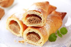 Sweet pastry rolls Stock Images