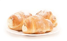 Sweet pastry with sugar Stock Images