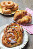 Sweet pastry variety Royalty Free Stock Images