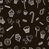Sweet pattern. Seamless pattern for bakery cakes sweets Stock Photos