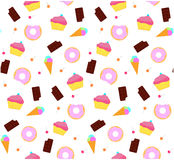 Sweet pattern. Seamless vector colored Royalty Free Stock Images