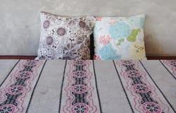 Sweet pattern throw pillows Royalty Free Stock Photo
